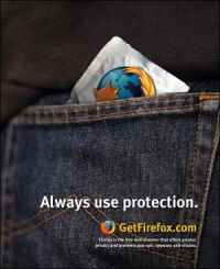 Always use protection. Firefox.