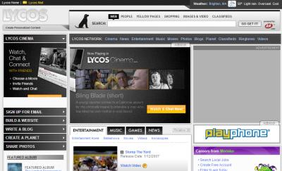 Old Timer Search Engine Lycos
